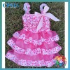 wholsesale sweet solid design baby lace dress