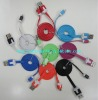 Micro usb flat colorful cable