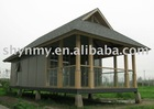 prefab house wooden bungalow round log wooden house wooden house QM-15