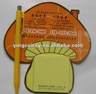 mushroom magnet memo pad |fruit memo pad
