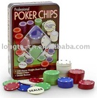 100pcs Casino style 4.0 poker chips set in tin box