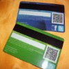 2012 hot sell plastic magnetic stripe card