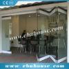 waterproof aluminum large glass sliding folding door