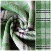 Green Plaid Wool Melton Fabric
