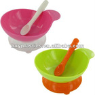 safe and easy use silicone baby bowl with spoon