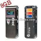 Rechargeable 8GB 650Hr Digital Audio Voice Recorder Dictaphone MP3 Player New