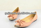 2012 New design colourful shoes low single shoes fashion flats women's shoes bowknot lady brand casual shoes