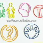 funny shape custom logo metal paper clip