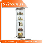 BEST SELLER!!round glass display case, 5 tier Round Display Case That Has Suspended Shelf,glasses display,cosmetic display case