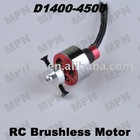 RC Hobby Brushless Electric DC Motor Outrunner D1400-4500
