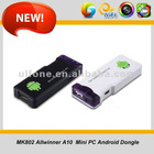 New Arrival MK802 Android 4.0 Mini PC -on-a-stick Thumb Drive Android4.0 IPTV Smart 1GB RAM+4GB ROM MIC In Stock