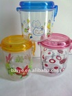 plastic canister/ kitchenware cansiter/candy canister
