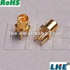 SMA female jack PCB Edge Mount RF Solder Adapter for 0.062' board