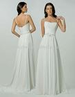 Fancy Beaded Plus Size Pure White Chiffon Wedding Dress