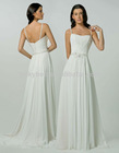 Fancy Beaded Plus Size Pure White Chiffon Wedding Dress