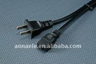 Power Cord Two Flat Pin Plug