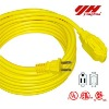 Yellow color Outdoor Extension cord