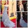 Stylish Strapless Mermaid Tulle Celebrity Dresses 2012