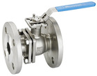 2pc ball valve flange end with ISO direct mounting pad full port