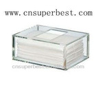 clear acrylic small tissue case box holder