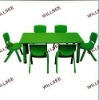 Kid Table Set(Plastic chair & Wooden table)