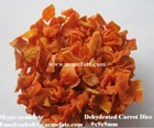 Dehydrated carrot dice