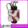 gift golf pen holder with watch