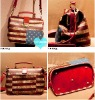 Lady Fashion US National Flag Shoulder Bags Vintage PU Leather Doctor Bags