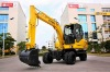 8T mechanical transmission wheel excavator YH80-9B