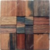 old boat reclaimed wooden mosaic tile wall decoration material