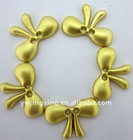 Gold Butterfly-Shape Button
