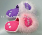 fashionable plush slippers with special design