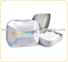 OEM Small Hinged Tin with Sugar Free Mint Candy