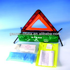 first aid kit with warning triangular