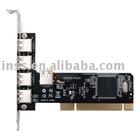 4+1 port USB2.0 High Speed PCI Card