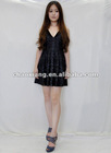2012 new design v-neck ladies short skirt
