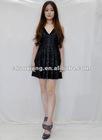 2012 new design v-neck ladies short skirt