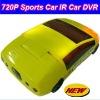 2012 Hot Sports Car Style 720P HD IR Car DVR,with 2.4'' HD LCD