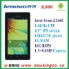 Lenovo LePhone K800_4.5'' IPS_Intel Atom Z2460 CPU_GSM+3G _1.3+8.0MP Camera Smart Phone