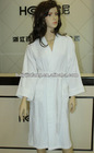 white jacquard terry velour hotel bathrobe