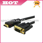 1.8M Gold HDMI Male to VGA HD-15 Male Cable 6ft 6 feet