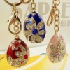 promotional item diamond flower metal key chain