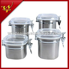 4pc Stainless steel canister set