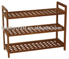 Bamboo 3 shelves shoes Rack