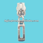metallic fade gold cutout zipper puller