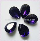 Purple velvet drop glass beads for jewelry