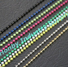 2.4mm various colors coated hollow metal beads curtain