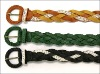2012 new design elastic fashion casual city braided lady belt