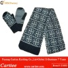 2012 Newest Acrylic Winter Fashion Knitted Scarf Hat Glove Sets