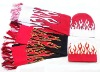 New style promos flame beanie and scarf on promotion